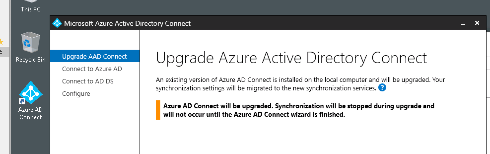 Azure Active Directory Connect Update