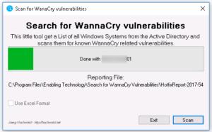 WannaCry Scan Run