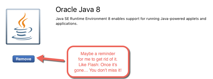 Time to remove Java?
