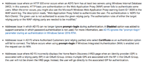 ADFS related Fixes in KB4077525