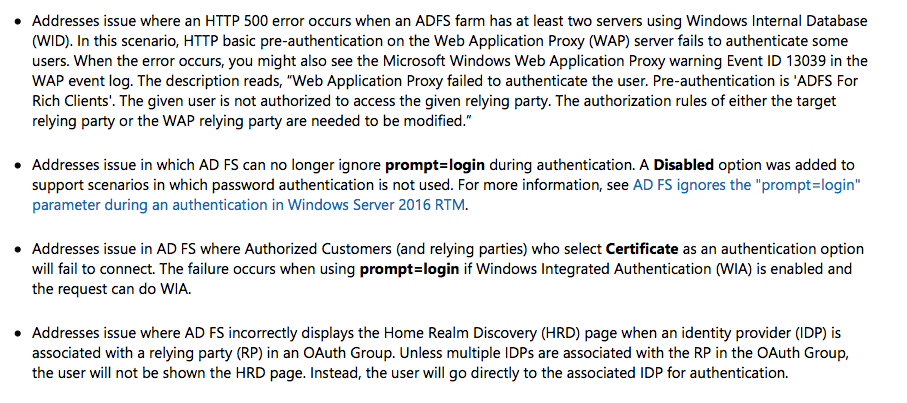 KB4077525 caused some issues with my ADFS servers (Updated