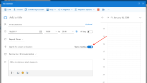 Planning in Outlook Online