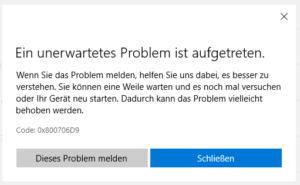 Update Error 0x800706D9