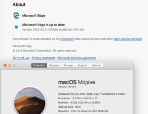 Microsoft Edge Insider on macOS