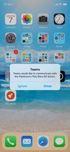 Poly Elara App want to open Microsoft Teams