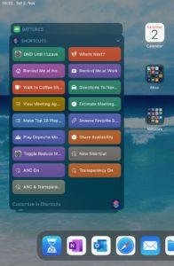 Shortcuts on the iPad