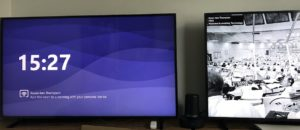 Microsoft Teams Meeting Room on two Screens