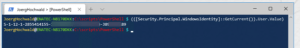 Get your SID with PowerShell